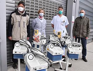 Beatmungsgeräte für Krankenhaus in Kuba